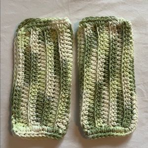 Other - Pretty Green Shades 100% Cotton Crocheted Cloths